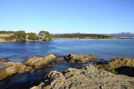 toulon: Mediterranean sea landscape in south france, near Bandol