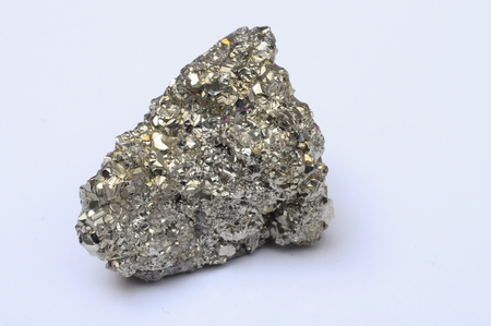 pyrite: Close up of mineral : iron pyrite stone