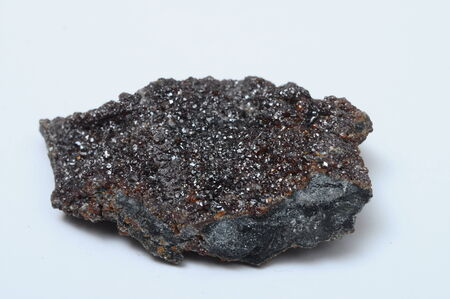 sphalerite: Close up of mineral : Blende of Sphalerite black stone