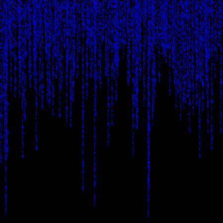 written communication: background of a green matrix of binary figures