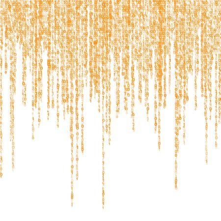 communication �crite: fond d'une matrice de chiffres binaires vert