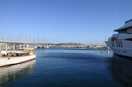 toulon: View of marina Bandol in France and boats in french riviera
