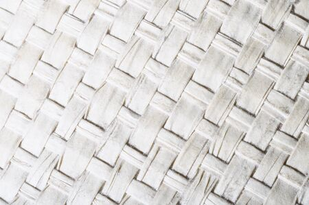 braided: Macro of white braided cloth texture for background Stock Photo