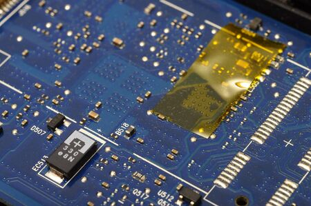 disassembly: Macro and details of computer electronic components