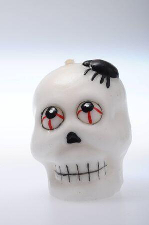 terrific: Scene of Halloween white and black  skulls Stock Photo
