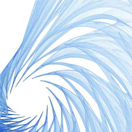 random: Background of random blue fractal lines and curves Stock Photo