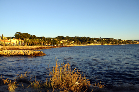 toulon: Sunset Mediterranean sea landscape in south france,  Bandol