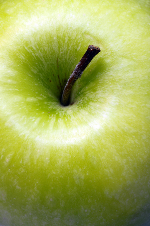 appetize: Macro of an appetizing  green granny smith apple Stock Photo