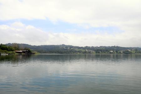 savoy: Quiet lake of Aiguebelette, near Lyon, in Savoy France