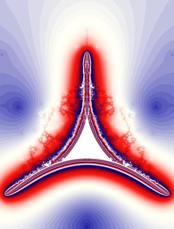 tour eiffel: Blue, white, red tour eiffel : Colored fractal pattern background