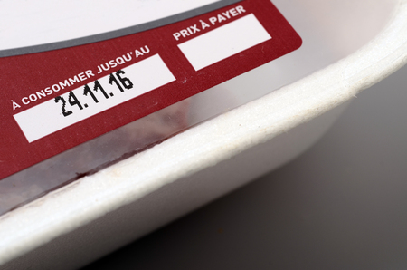 traceability: Expiration date or best before date on a food label product