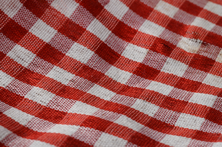 gingham: Red Gingham cloth, details of fabric Stock Photo