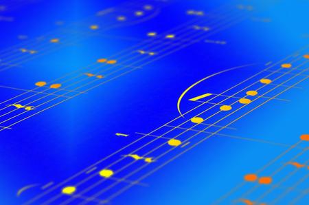 musical score: Music notes score background, piano score, close up