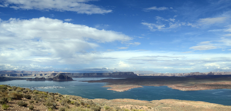 Lake Powell scenic view landscape, USA