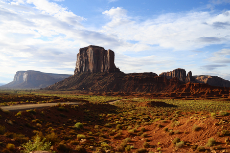 Monument valley scenic view, landscape at morning, USA