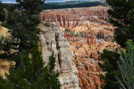 Bryce canyon landscape, scenic view of amphiteater, Utah, USA