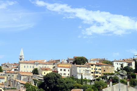 Overview of venitian village of Vsar, in Croatia