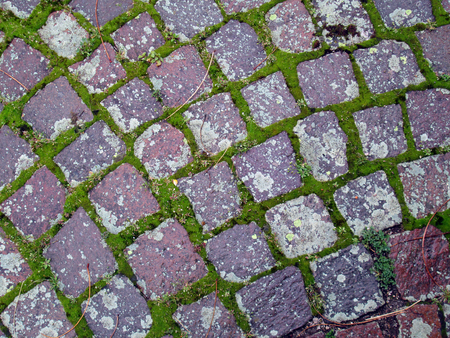 Old paved ground with square stones for background or texture Reklamní fotografie