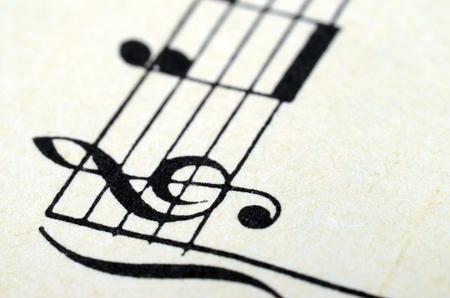 Music notes score background, piano score, close up