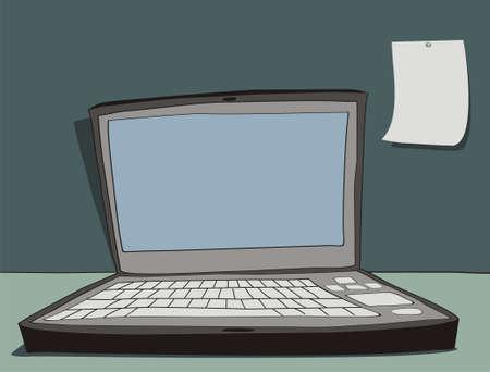 The laptop illustration