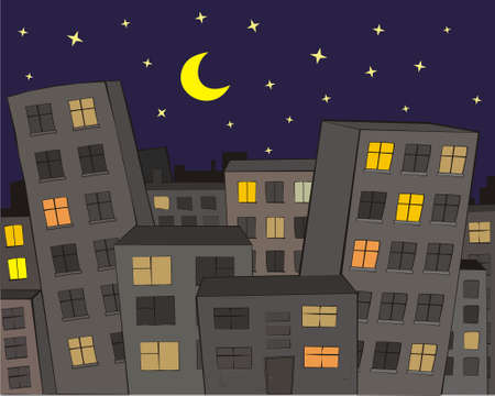 The City at Night Stock Vector - 4569083