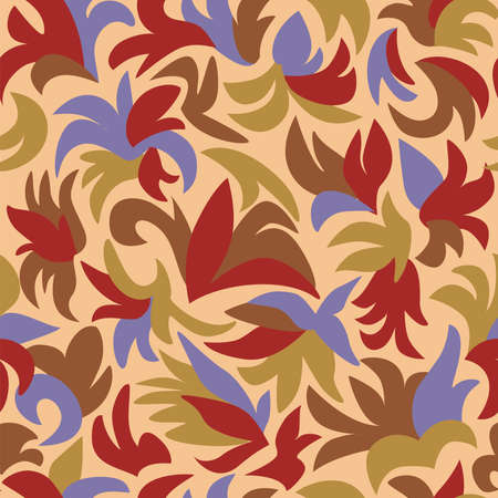 Retro Floral Seamless Pattern Stock Vector - 4669510