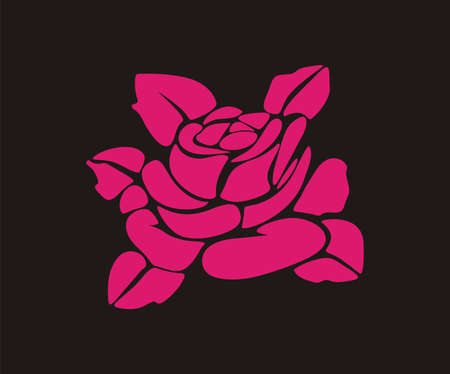 Stylized silhouette of a rose.