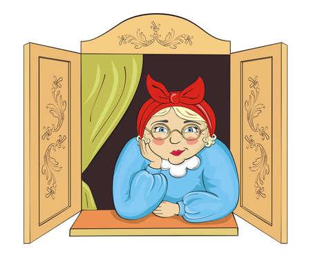 Cute Grandma Stock Vector - 4721101