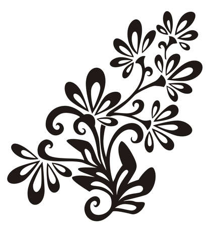 floral objects: Vector Floral Element