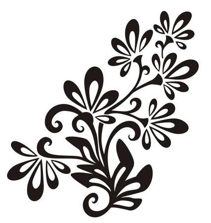 vector ornaments: Vector Floral Element