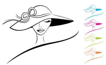 Woman in a Hat Illustration
