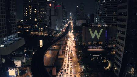 Sathorn Narathiwas intersection in Bangkok