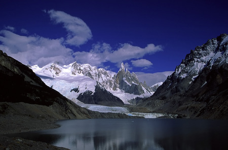 countryside landscape: A breathtaking view of Cerro Torre in Patagonia.