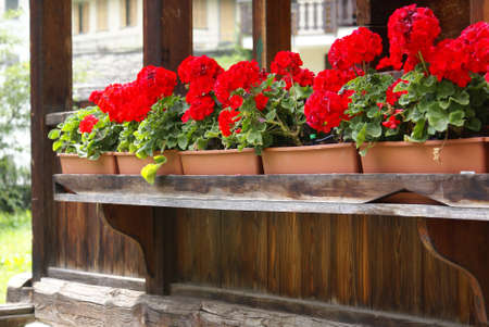 A typical chalet in the Italian Alps, with flowers and wooden facade. Stock Photo - 7562509