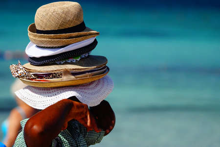 hats: Many hats for sales