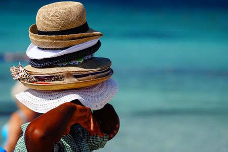 kapelusze: Wiele kapelusze dla sprzedaży Zdjęcie Seryjne