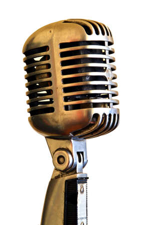 microphone retro: Vintage Microphone on a white background