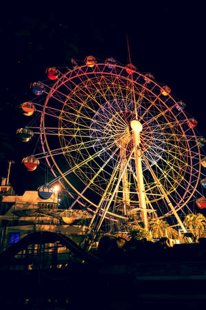 Ferris wheel at night Banco de Imagens