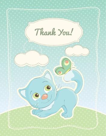 Baby boy bedankt standaard postkaart