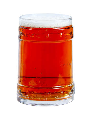 ale: Glass of Red Ale. isolated on a white background.