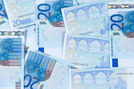 twenty euro banknote: New Twenty Euro Bank Banknote. European Union.
