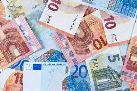 twenty euro banknote: New Twenty, Ten and Five Euro Bank Banknote. European Union.