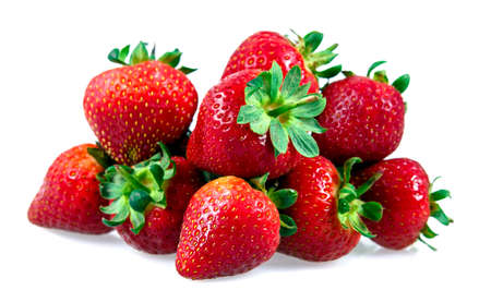 strawberries: Fresh Juicy Strawberry Isolated on white background.