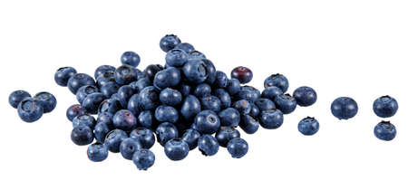 Fresh Juicy Blueberries isolated on white background. Stok Fotoğraf