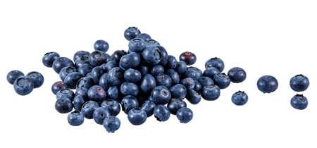 Fresh Juicy Blueberries isolated on white background. Stockfoto