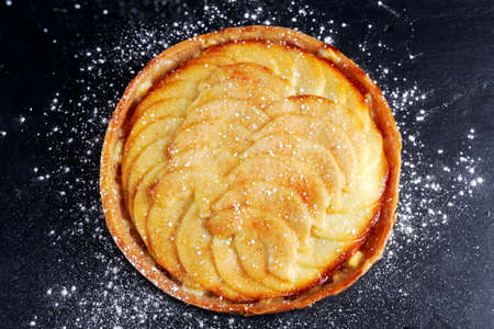 netherlandish: Golden Bramley apple tart with cinnamon glaze.
