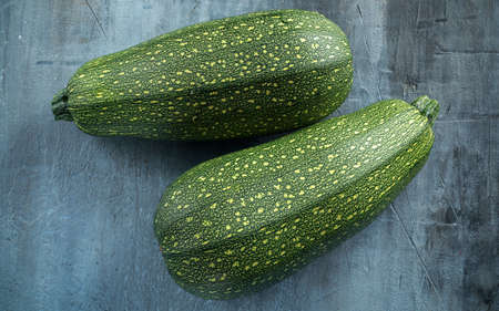 Raw Freshly picked organic marrow zucchini vegetables