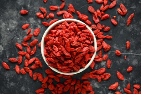 Dried fruits of Goji berries or wolfberry