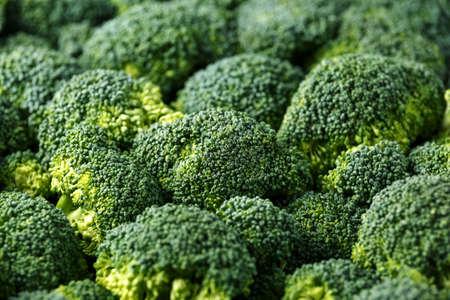 Healthy Fresh Green raw Broccoli.