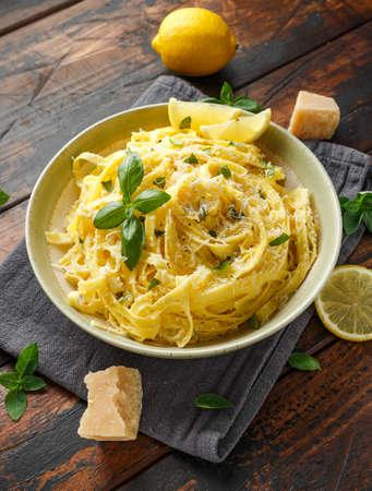 Pasta al Limone, Lemon with basil and parmesan cheese